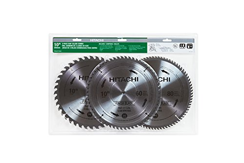 Hitachi 115166 finish and combination miter table saw for 10 inch table saw blades